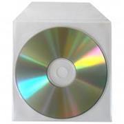 Polyprop. obálka na 1CD 100ks/bal. transparent s nelep. záložkou