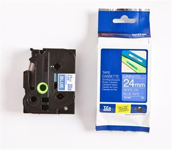 páska BROTHER TZ555 biele písmo, modrá páska Tape (24mm)
