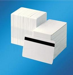 karta DATACARD plastová biela s magnetickým prúžkom CR80/.030T HICL