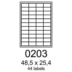 etikety RAYFILM 48,5x25,4 polyesterové lesklé biele laser R05040203F (1.000 list./A4)