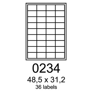 etikety RAYFILM 48,5x31,2 vysokolesklé biele laser R01190234F (1.000 list./A4)
