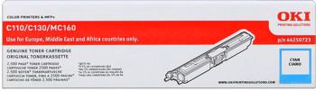 toner OKI C110/C130n, MC160n cyan (2500 str.)