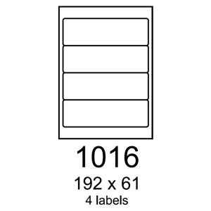 etikety RAYFILM 192x61 univerzálne biele R01001016C (20 list./A4)