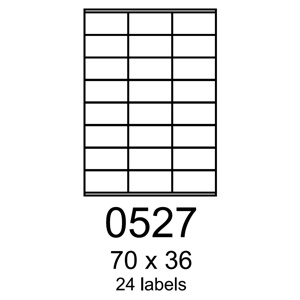 etikety RAYFILM 70x36 univerzálne biele R01000527C (20 list./A4)