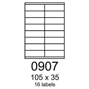 etikety RAYFILM 105x35 univerzálne biele R01000907C (20 list./A4)