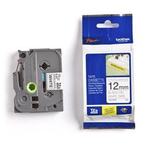 páska BROTHER TZS231 čierne písmo, biela páska extra lepivá ADHESIVE Tape (12mm)