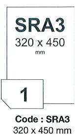 fólia RAYFILM lesklá biela priliehavá laser 100ks/SRA3