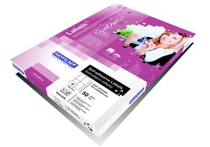 fólia RAYFILM lesklá biela samolepiaca polyesterová laser 10ks/A4