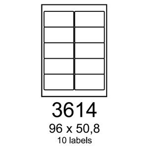 etikety RAYFILM 96x50,8 vysokolesklé biele laser R01193614A (100 list./A4)