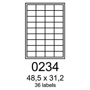 etikety RAYFILM 48,5x31,2 vysokolesklé biele laser R01190234A (100 list./A4)