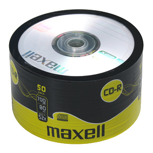CD-R MAXELL 700MB 52X 50ks/spindel