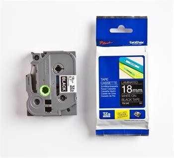 páska BROTHER TZ345 biele písmo, čierna páska Tape (18mm)