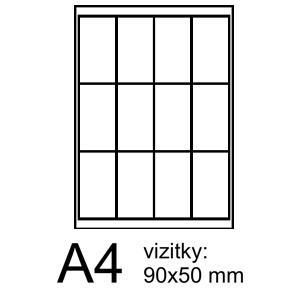 RAYFILM vizitky 9x5 PROFI foto pololesklé 120ks/10 listov 255g