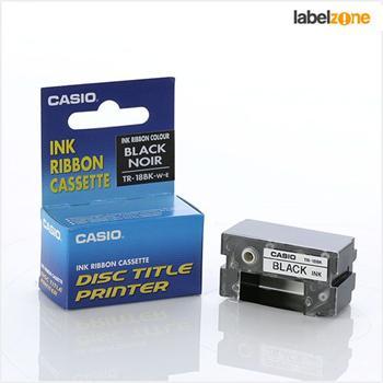 páska CASIO TR-18BK Black CW-50/75/100 Disc Title Printer
