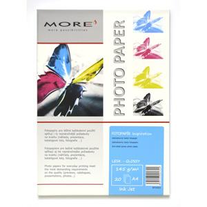 papier MORE INSPIRATION fotolesklý 20ks/A4 145g inkjet