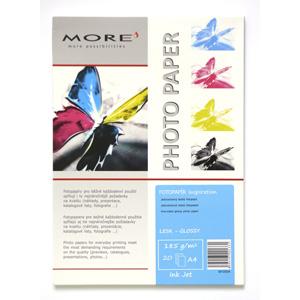 papier MORE INSPIRATION fotolesklý 20ks/A4 185g inkjet