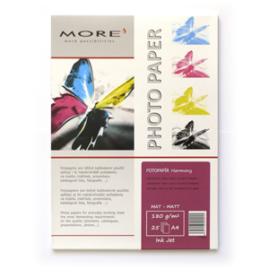 papier MORE HARMONY fotomatný 25ks/A4 180g inkjet