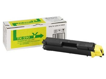 toner KYOCERA TK-590Y Yellow FS-C 5250DN, FS-C 2026MFP/2126MFP/2526MFP/2626MFP, Ecosys P6026cdn