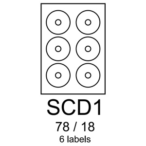 etikety RAYFILM SCD1 78/18 vysokoleskl� biele laser R0119SCD1A (100 list./A4)
