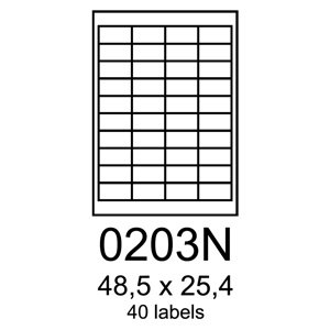 etikety RAYFILM 48,5x25,4 univerzálne červené R01220203NF (1.000 list./A4)