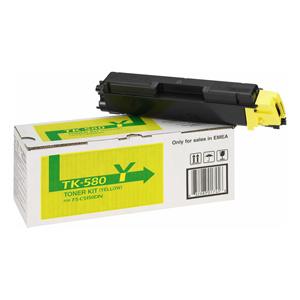 toner KYOCERA TK-580Y Yellow FS-C 5150DN, Ecosys P6021cdn