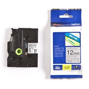 páska BROTHER TZeM931 čierne písmo, matná strieborná metalická páska Tape (12mm)