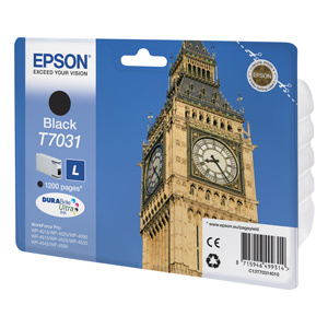 kazeta EPSON WorkForce WP4000,WP4500 black L 1.200 strán