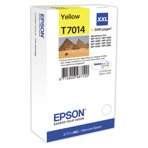 kazeta EPSON WorkForce WP4000,WP4500 yellow XXL 3.400 strán