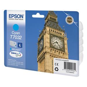 kazeta EPSON WorkForce WP4000,WP4500 cyan L 800 strán