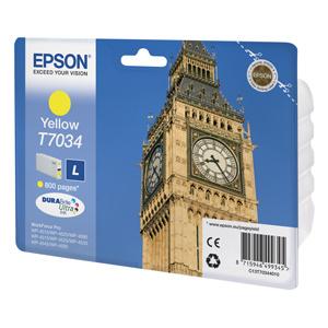 kazeta EPSON WorkForce WP4000,WP4500 yellow L 800 strán