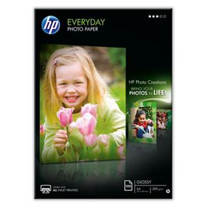 PAPIER HP Q2510A Everyday Photo Pap, semi-glossy, A4/100 list 200g