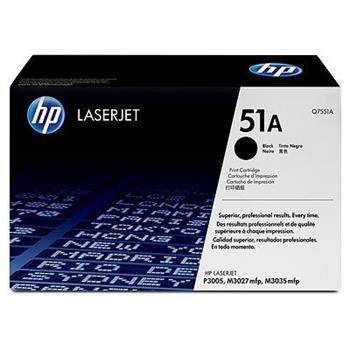 HP Q7551A Černý toner LJ P3005/M3035mfp/M3027mfp,6500str.