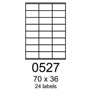 etikety RAYFILM 70x36 polyesterové lesklé biele laser R05040527F (1.000 list./A4)