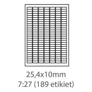 etikety ECODATA Samolepiace 25,4x10 univerzálne biele 189ks/A4 (100 listov A4/bal.)