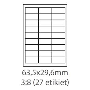 etikety ECODATA Samolepiace 63,5x29,6 univerzálne biele (100 listov A4/bal.)