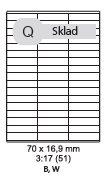etikety ECODATA Samolepiace 70x16,9 univerzálne biele 51ks/A4 (100 listov A4/bal.)