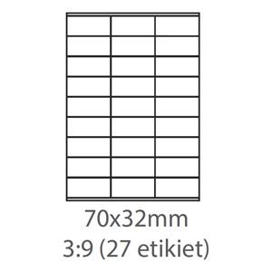 etikety ECODATA Samolepiace 70x32 univerzálne biele (100 listov A4/bal.)
