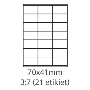 etikety ECODATA Samolepiace 70x41 univerzálne biele (100 listov A4/bal.)