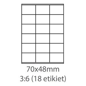 etikety ECODATA Samolepiace 70x48 univerzálne biele (100 listov A4/bal.)