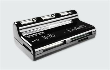 Modecom externá čítačka kariet All in one + USB hub CR-Wave USB 2.0