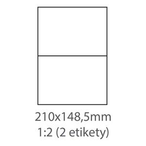 etikety ECODATA Samolepiace 210x148,5 univerzálne biele (1000 listov A4/bal.)