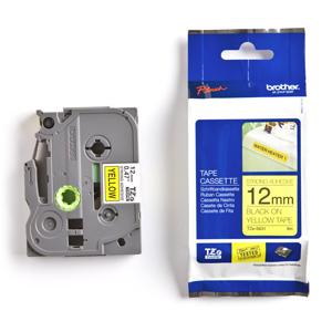 páska BROTHER TZFX631 čierne písmo, žltá páska FLEXIBLE ID Tape (12mm)