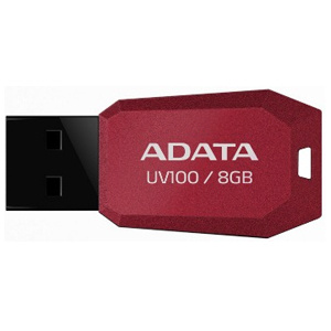 USB kľúč ADATA DashDrive™ Series UV100 8GB USB 2.0 slim, červený