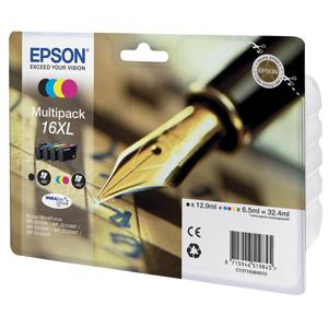 kazeta EPSON WF2520/2530/2540/2750 T1636 Multipack CMYK XL 16