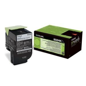 Toner Lexmark CX410/CX510 802HK 4K BLACK