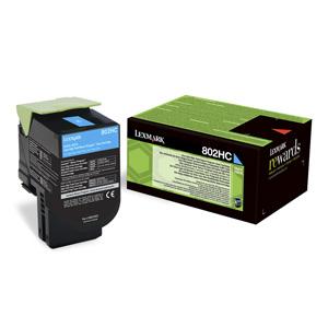 Toner Lexmark CX410/CX510  802HC 3K CYAN