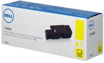 toner DELL V53F6 Yellow C1660w (1.000 str.)