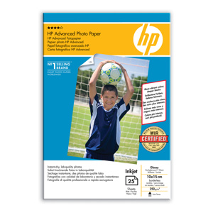 PAPIER HP Q8691A Advanced Glossy Photo,250g,10x15cm,borderless,25ks