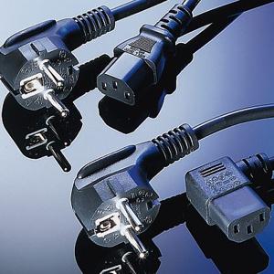 kábel napájací sieťový 220V 5m, CABLEXPERT čierny