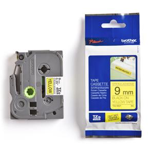 páska BROTHER TZS621 čierne písmo, žltá páska extra lepivá ADHESIVE Tape (9mm)